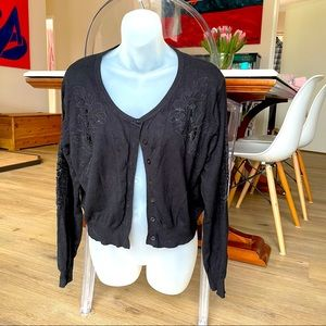 City Chic cropped cardigan size S (size 16)
